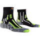 X-Socks M's Sky Run 2.0 Socks Black/Green Lime/Mouline Grey